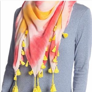 Rebecca Minkoff tie die tassel scarf